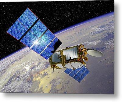 Jason-3 Satellite Metal Print by Nasa/jpl-caltech