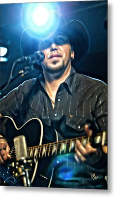 Jason Aldean Metal Print by Don Olea