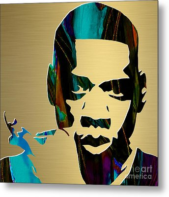 Jay Z Gold Series Metal Print by Marvin Blaine
