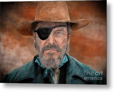 Jeff Bridges As U.s. Marshal Rooster Cogburn In True Grit  Metal Print by Jim Fitzpatrick