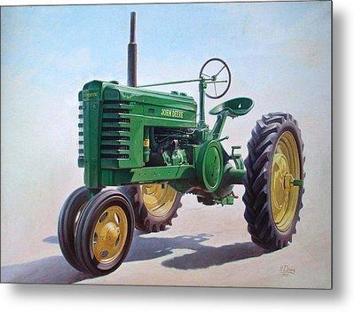 John Deere Tractor Metal Print by Hans Droog