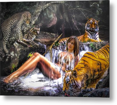 Metal Print featuring the photograph Jungle Ginns by Glenn Feron