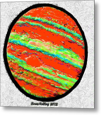 Jupiter In Many Colors Metal Print by Bruce Nutting