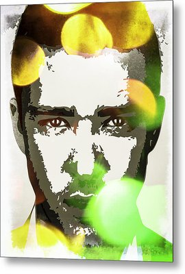 Metal Print featuring the digital art Justin Timberlake by Svelby Art