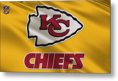 Kansas City Chiefs Uniform Metal Print by Joe Hamilton