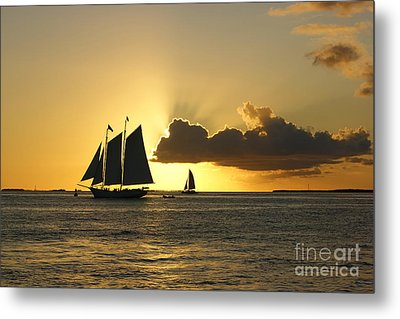 Metal Print featuring the photograph Key West Sunset by Olga Hamilton
