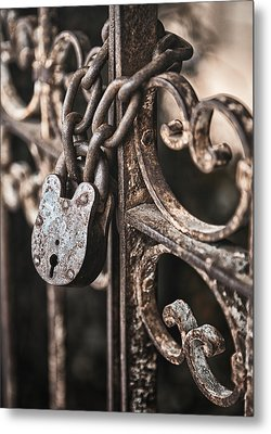 Keyless Metal Print by Caitlyn  Grasso