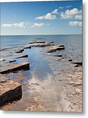 Kimmeridge Bay Seascape Metal Print by Matthew Gibson