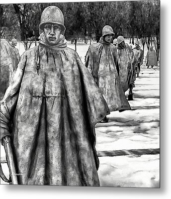 Korean War Memorial Washington Dc Metal Print