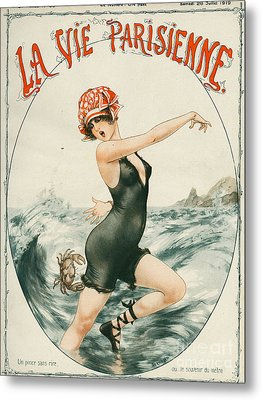 La Vie Parisienne  1919 1910s France Metal Print by The Advertising Archives