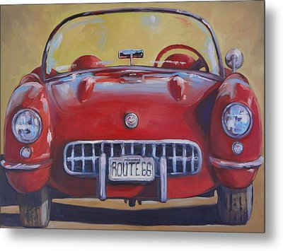 Lady In Red Metal Print by Kelley Smith