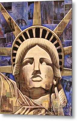Lady Liberty Metal Print by Joseph Sonday