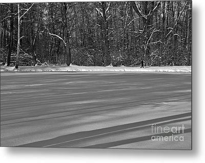 Lake Under Snow Metal Print by Dariusz Gudowicz