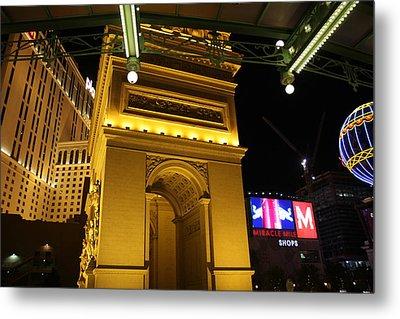 Las Vegas - Paris Casino - 12128 Metal Print by DC Photographer