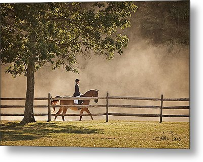 Metal Print featuring the photograph Last Ride Of The Day by Joan Davis