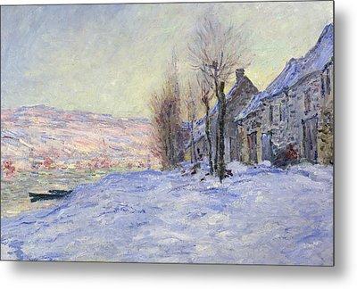 Lavacourt Under Snow Metal Print by Claude Monet