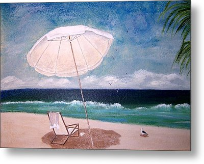 Metal Print featuring the painting Lazy Day by Jamie Frier
