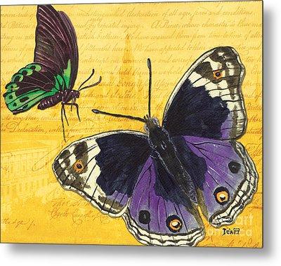 Le Papillon 4 Metal Print by Debbie DeWitt