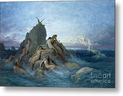 Les Oceanides Metal Print by Gustave Dore