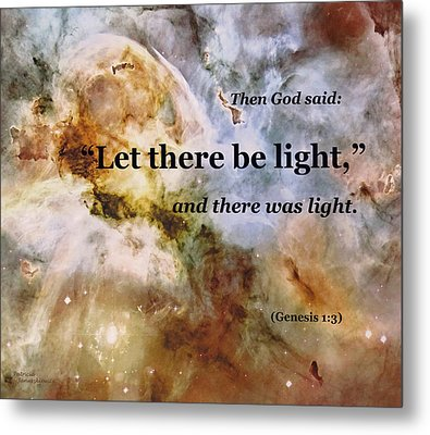 Let There Be Light Metal Print by Patricia Januszkiewicz