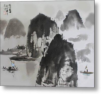 Li River Metal Print by Yufeng Wang