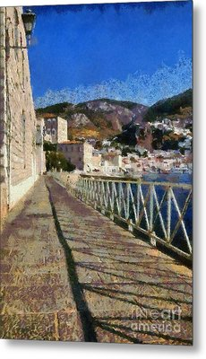Light And Shadow In Hydra Island Metal Print by George Atsametakis