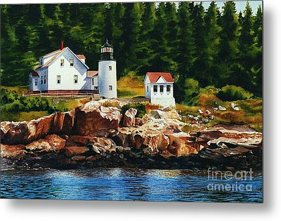 Lighthouse Solitude Metal Print by Karol Wyckoff
