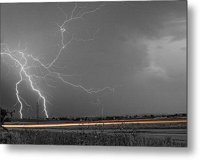 Lightning Thunderstorm Dragon Metal Print by James BO  Insogna
