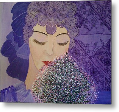 Lilac And Lace Metal Print by Judi Goodwin