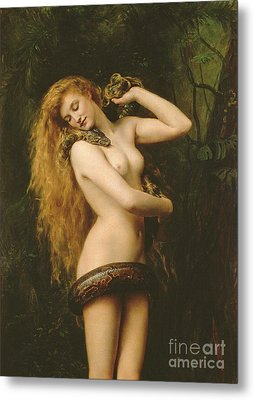 Lilith Metal Print by John Collier