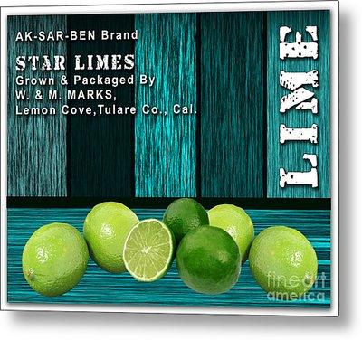 Lime Farm Metal Print by Marvin Blaine