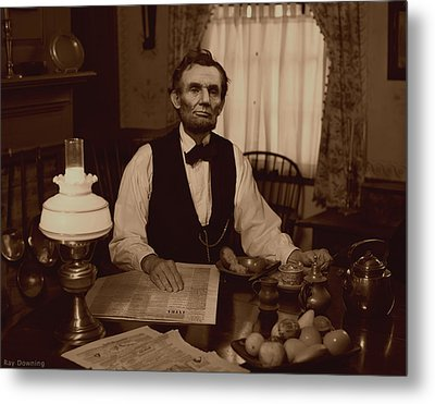 Lincoln At Breakfast Metal Print
