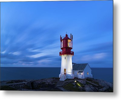 Lindesnes Fyr - Lighthouse In The South Of Norway Metal Print
