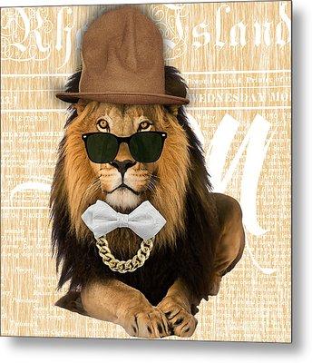 Lion Collection Metal Print