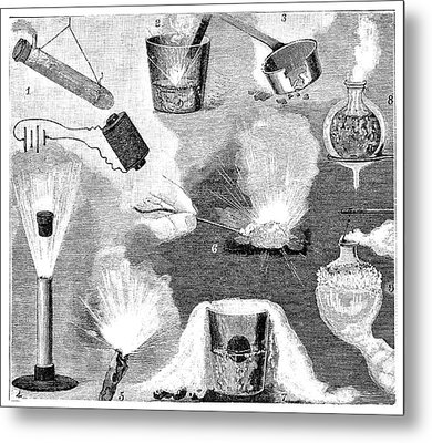 Liquid Air Experiments Metal Print by Science Photo Library