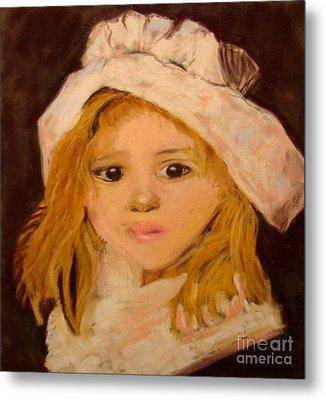Little Girl Metal Print by Joseph Hawkins