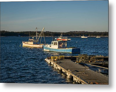 Lobster Boats Maine  Metal Print