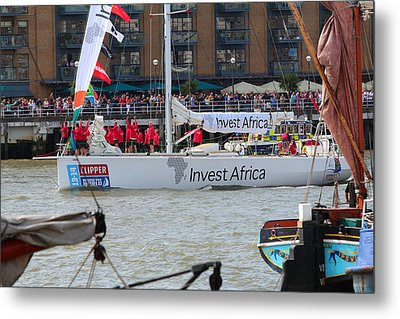 London Is To Host The Start And Finish Of The 2013-14 Edition Of The Clipper Round The World Yacht R Metal Print by Ash Sharesomephotos