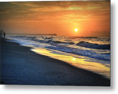 Looking Into The Sunrise Metal Print