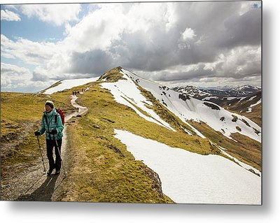 Looking Towards Beinn Ghlas Metal Print by Ashley Cooper