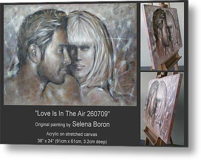 Metal Print featuring the painting Love Is In The Air 260709 by Selena Boron