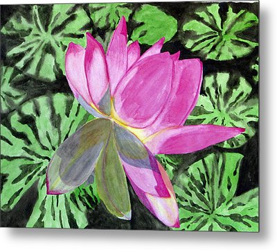 Metal Print featuring the painting Lovely Lily by Debi Singer