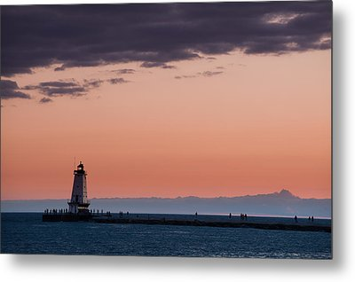 Ludington North Breakwater Lighthouse Metal Print by Sebastian Musial