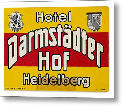 Luggage Label Metal Print by Granger