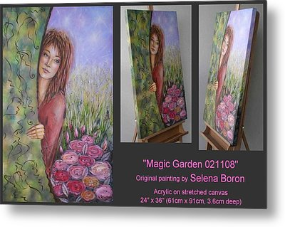 Metal Print featuring the painting Magic Garden 021108 by Selena Boron