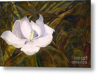 Metal Print featuring the painting Magnolia Blossom by Sandy Linden
