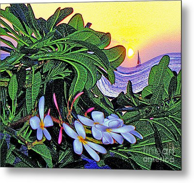 2 Mai Tais Waikiki Hawaii Metal Print by Jerome Stumphauzer