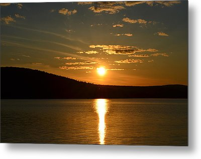 Metal Print featuring the photograph Maine Sunset by James Petersen