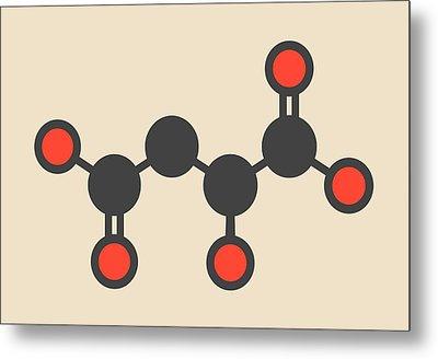 Malic Acid Fruit Acid Molecule Metal Print by Molekuul