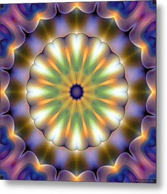 Mandala 105 Metal Print by Terry Reynoldson
